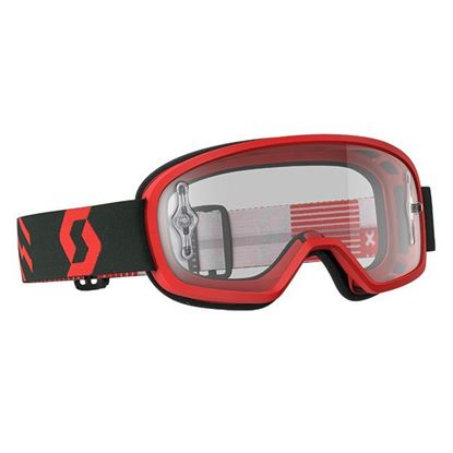 Picture of SCOTT BUZZ MX PRO Goggle Red Black with Clear Works Lens