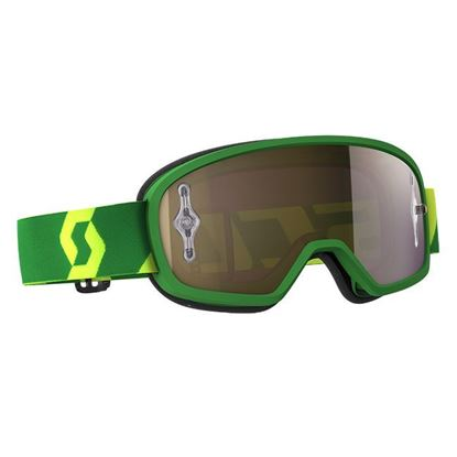 Picture of SCOTT BUZZ MX PRO Goggle Green Yellow with Gold Chrome Works Lens