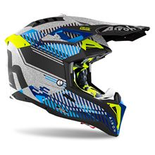 Picture of Wave Silver Gloss S Aviator 3 Helmet MX Airoh              []