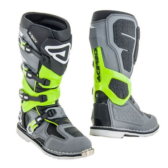 Picture of ACERBIS X-Rock Boots - Grey Fluro Green
