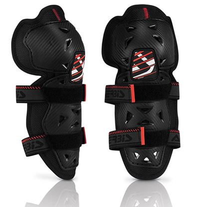 Picture of ACERBIS Profile 2 Knee Guards - Youth Black